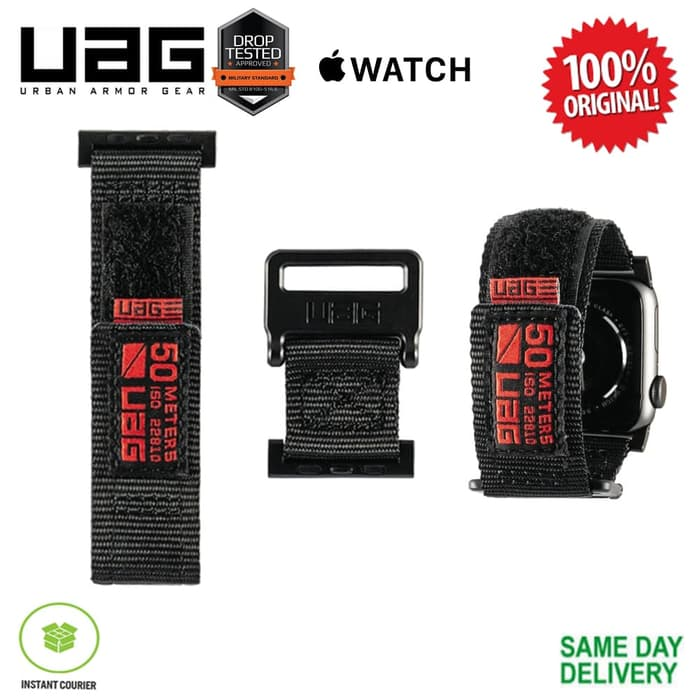 new style 6a894 d4361 Apple Watch 4 UAG Active Strap Series - Black