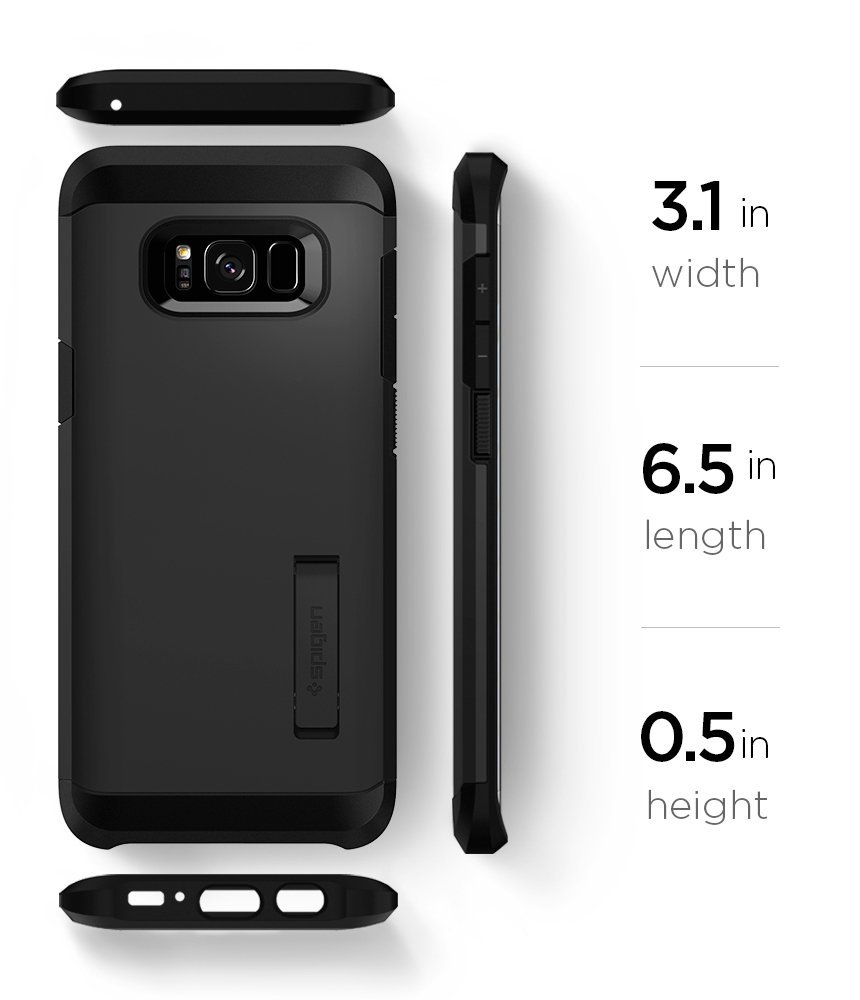 sports shoes 3f494 d79a5 SPIGEN Tough Armor Galaxy S8 Plus Case