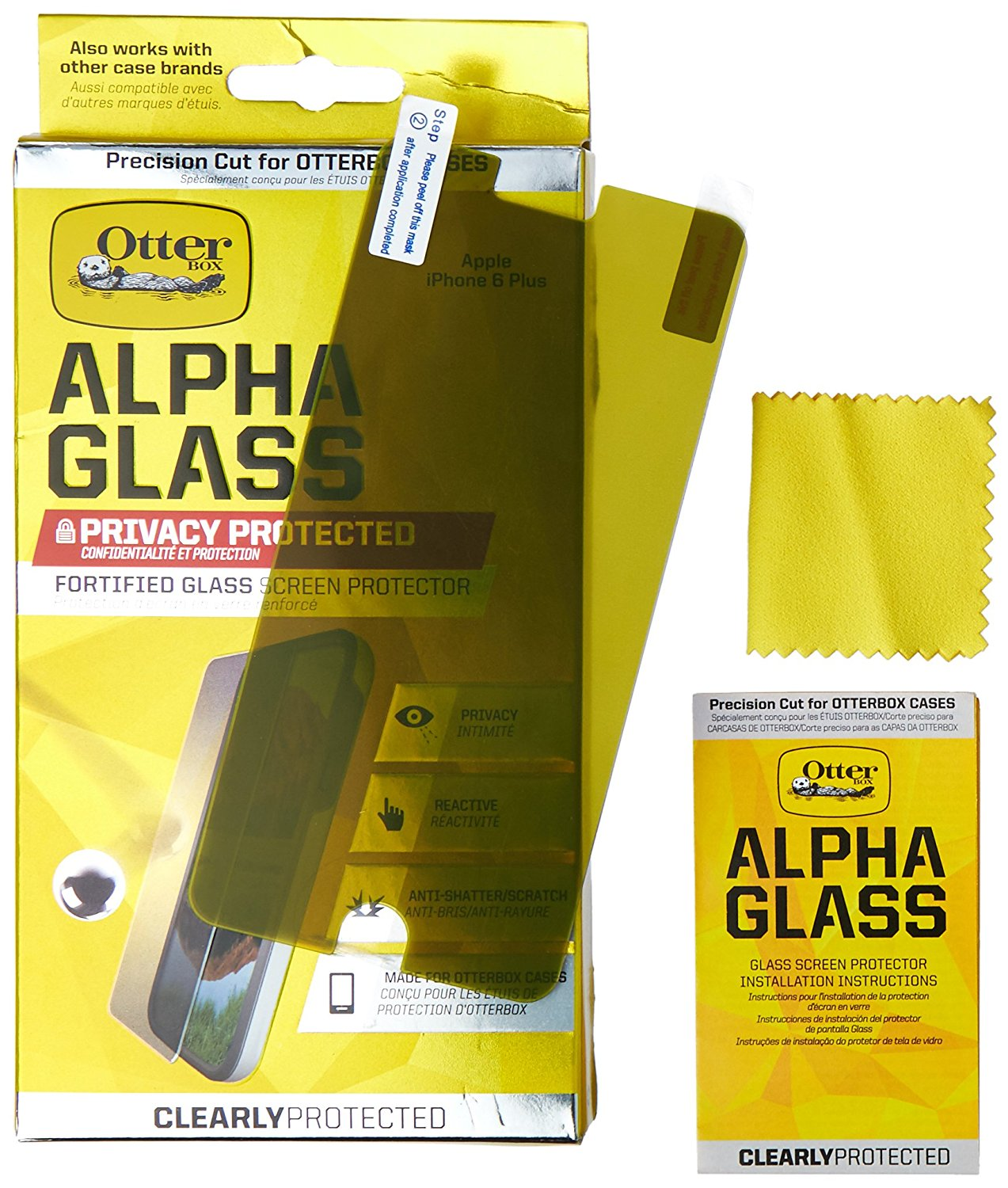 new arrival 209a7 c11c4 Otterbox Alpha Glass Tempered Glass Screen Protector
