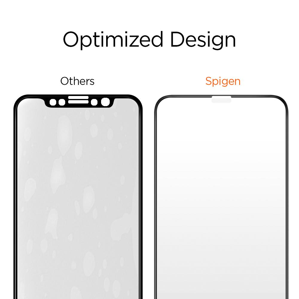 official photos cea2f eafb4 SPIGEN Screen Protector Glass Full Cover iPhone X