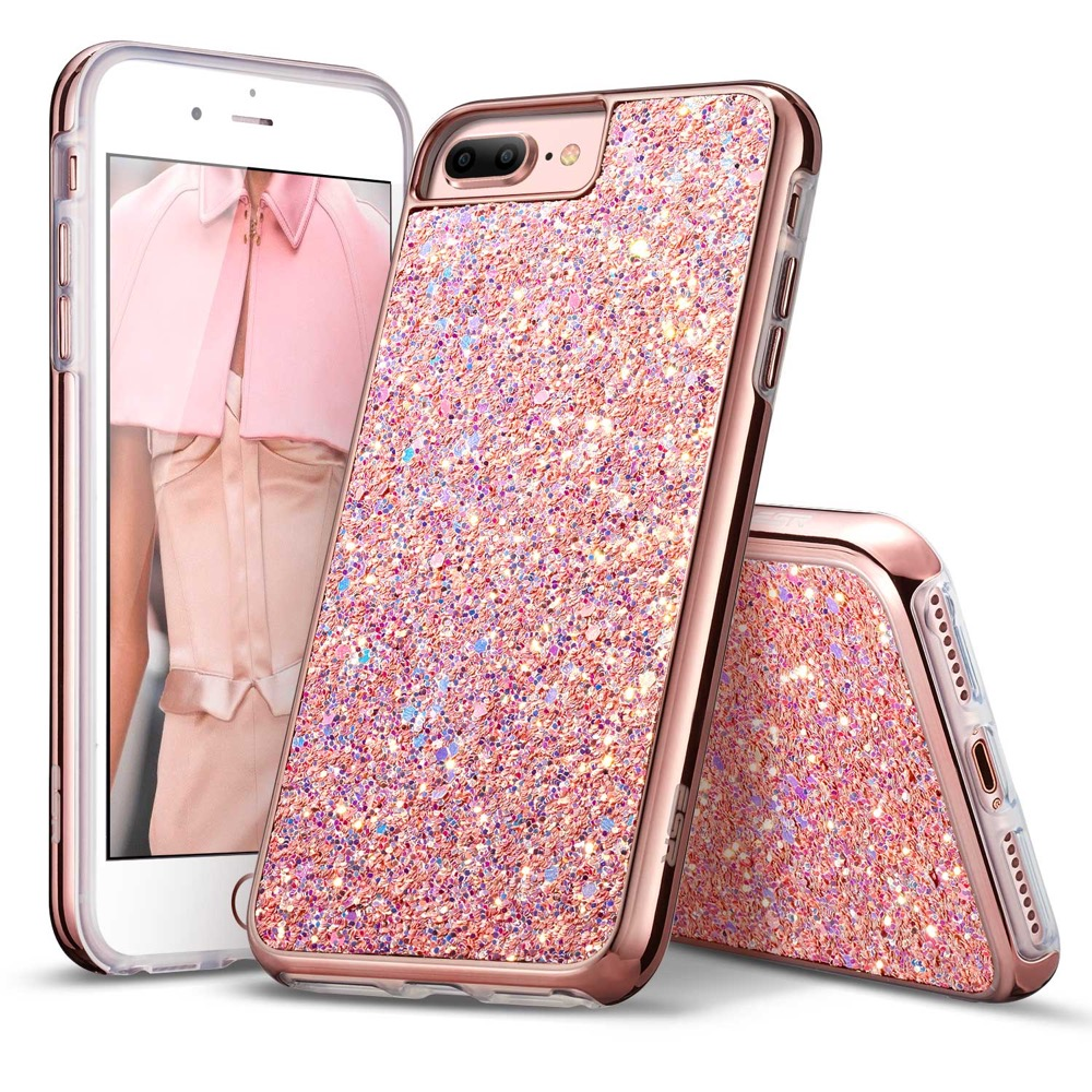 timeless design 0c608 36e49 ESR Case iPhone 8 Plus/7 Plus Glitter Case